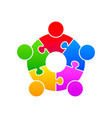 community puzzle union support vector image