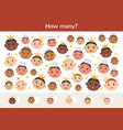 counting children game princesses with crowns vector image vector image