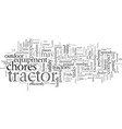 equipment ownership tools of the tractor trade vector image vector image