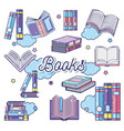 fantasy and magic books vector image