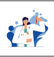 female doctor scientist medic womanclinic hospital vector image vector image