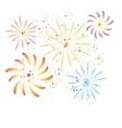 fireworks in the background vector image