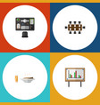 flat icon lifestyle set of boardroom lunch vector image vector image