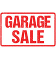 garage sale typography isolated on white vector image vector image