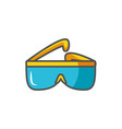 goggles industrial protection safety fill vector image vector image