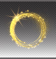 gold glittering star dust circles twinkling vector image vector image