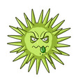 green virus icon in cartoon style isolated on vector image vector image