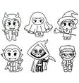 Halloween characters vector image vector image