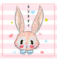 hand drawn cute bunny print design rabbit vector image vector image
