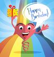 Happy birthday card jumps vector image vector image