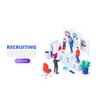 hiring and recruitment design concept vector image vector image