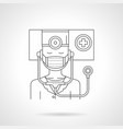 infectious disease doctor detail line icon vector image