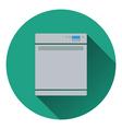 Kitchen dishwasher machine icon vector image