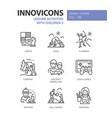 leisure activities for children - line design vector image
