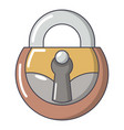 lock vintage icon cartoon style vector image