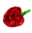 Low Poly bell pepper vector image