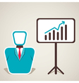 men with business growth design vector image