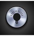 metal icon Eps10 vector image vector image