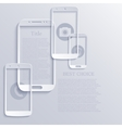 modern light smartphones icons vector image vector image