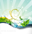 nature style wave vector image vector image