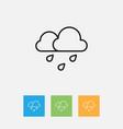 of weather symbol on rain vector image