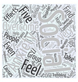overcoming social anxiety Word Cloud Concept vector image vector image