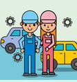 people car service vector image
