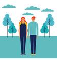 people outdoor park vector image vector image