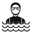 Scuba diver man in diving suit icon simple style vector image vector image