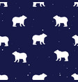 seamless pattern with cute polar bears in simple vector image vector image