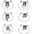 set funny pigs - 2019 chinese new year vector image vector image