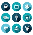 Set of House and Interior items Icons vector image vector image