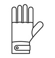 ski gloves icon outline style vector image