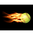 Softball on Fire vector image vector image