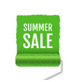 summer sale with paint roller and paint stroke vector image vector image