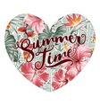Summer time hearth with hawaiian motifs vector image vector image
