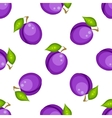 Tartan plaid with plums seamless pattern vector image