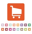 The cart shoping icon Shop Cart symbol Flat vector image vector image