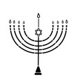 The menorah with the star of david is a symbol of
