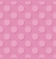 tile pattern big pink polka dots with shadow vector image vector image