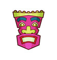 tribal mask pink traditional african or indian vector image vector image