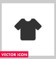 tshirt icon vector image vector image