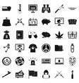 Washing money icons set simple style vector image