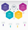 web template of a sales pipeline purchase funnel vector image vector image
