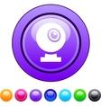 Webcam circle button vector image vector image