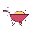 wheelbarrow icon vector image vector image