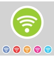 Wireless wifi flat icon vector image