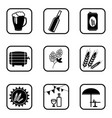 beer icons on white background vector image
