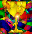 abstract colored image of cup vector image vector image