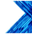 abstract geometric squares lines blue vector image vector image